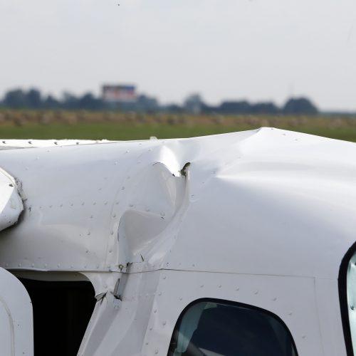 Kauno rajone nukrito lėktuvas  © Aliaus Koroliovo nuotr.