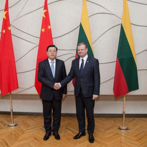 Kinijos parlamento vadovo vizitas Lietuvoje