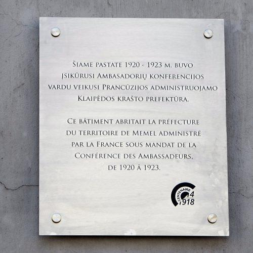 Prancūzų įamžinimas Klaipėdoje  © Vytauto Liaudanskio nuotr.