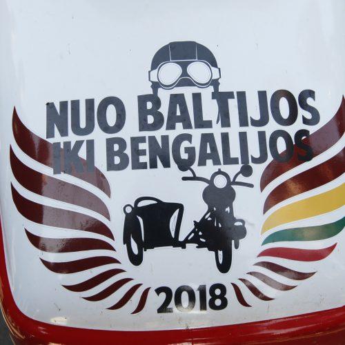 Į Bengaliją motociklininkai išvyko su duona ir lašiniais  © Vytauto Liaudanskio nuotr.