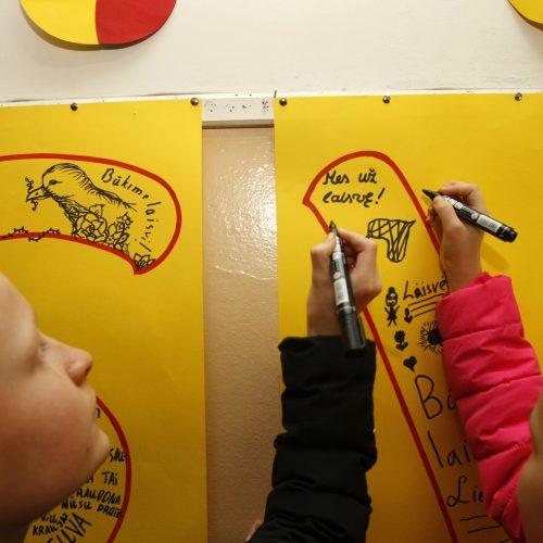Laisvos Lietuvos vaikai piešė Laisvę  © Vytauto Liaudanskio nuotr.