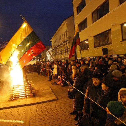 Sausio 13-osios minėjimas Klaipėdoje  © Vytauto Liaudanskio nuotr.