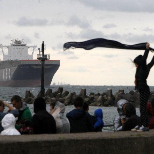 "Laivas ""MSC Francesca"" Klaipėdos uoste"