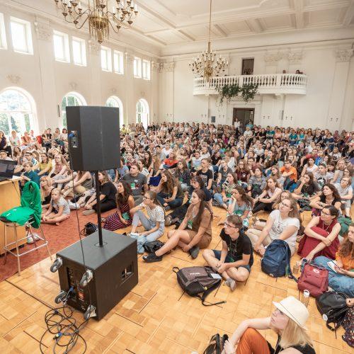 Popiežiaus vizito savanorių mokymuose Kaune – per 500 dalyvių