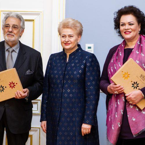 Operos žvaigždė P. Domingo – Prezidentūroje  © Pauliaus Peleckio / Fotobanko nuotr.