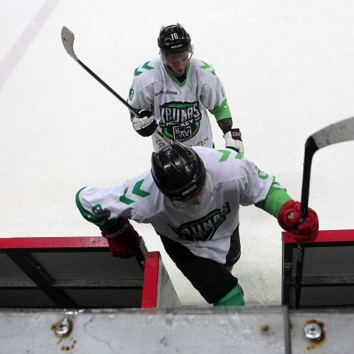 """Ledo ritulys: """"Energija"""" – """"Kaunas Hockey"""" <span style=color:red;>(5:2)</span>  &#169; Evaldo Šemioto nuotr."""