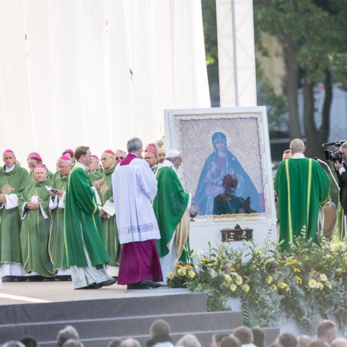 Popiežius Pranciškus meldėsi Santakos parke  © Vilmanto Raupelio nuotr.