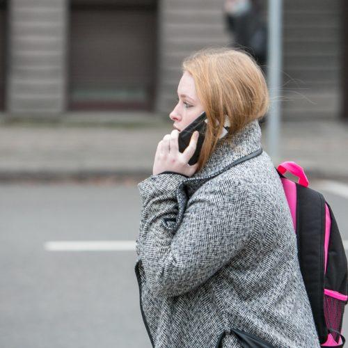 Pėsčiųjų drausminimui skirtas reidas Kaune  © Vilmanto Raupelio nuotr.