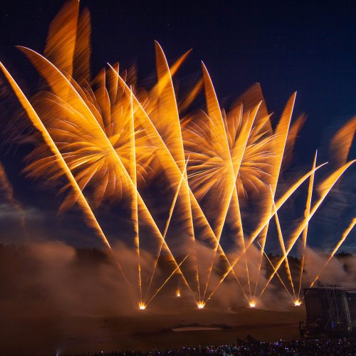 Jubiliejinis fejerverkų festivalis Vilniuje  © I. Gelūno / BFL nuotr.