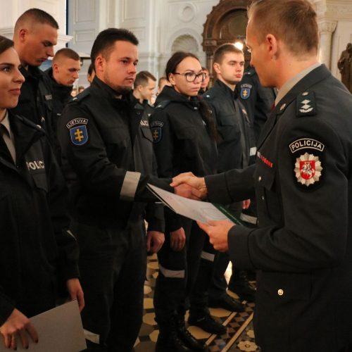 Pareigūnų priesaika  © Policijos nuotr.
