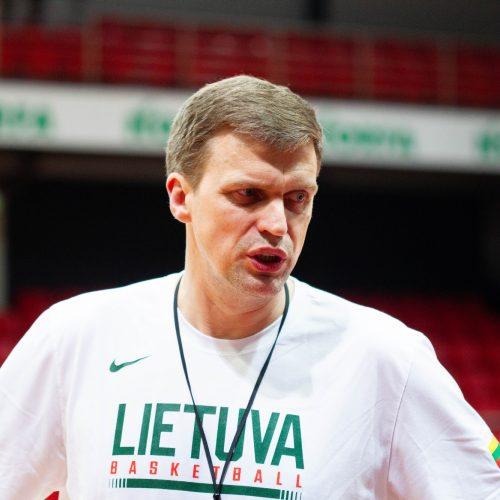 Lietuvos vyrų krepšinio rinktinės treniruotė  © Irmanto Gelūno/Fotobanko nuotr.