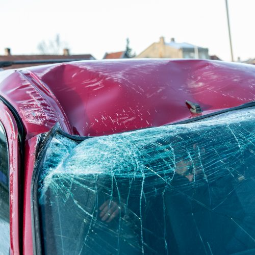 Dviejų automobilių avarija Veiverių gatvėje