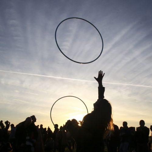Vasaros saulėgrįžos paminėjimas Stounhendže  © Scanpix nuotr.