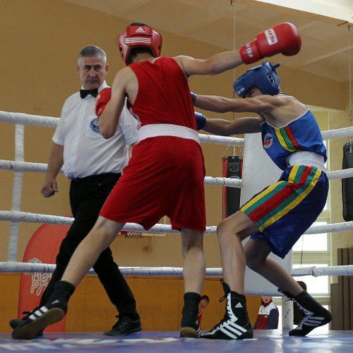 """""""Auksinė pirštinė"""". Jaunių bokso turnyras  © Evaldo Šemioto nuotr."""