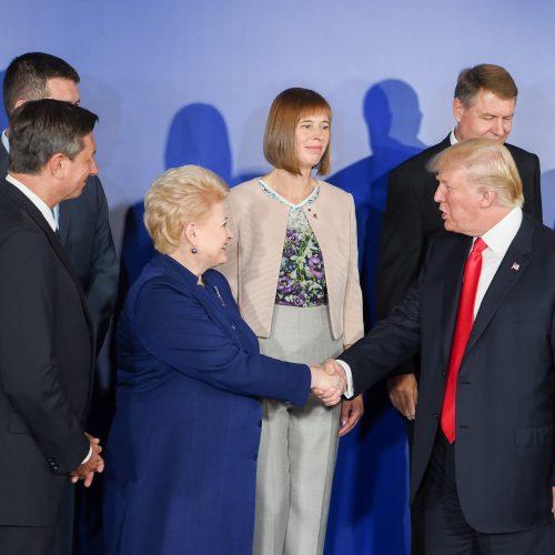 Prezidentės susitikimas su D. Trumpu