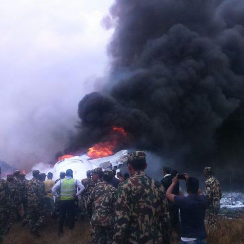 Nepale sudužęs keleivinis lėktuvas  © Scanpix, Twitter, ELTOS nuotr.
