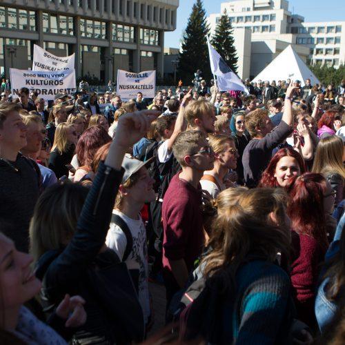 Prieš alkoholio ribojimus – protesto koncertas