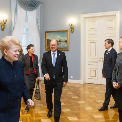 Prezidentūroje – Švedijos parlamento pirmininkas  © V. Skaraičio / BFL nuotr.