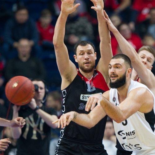 """Europos taurė: """"Lietuvos rytas"""" - """"Partizan"""" 93:75  © V.Skaraičio/BFL nuotr."""