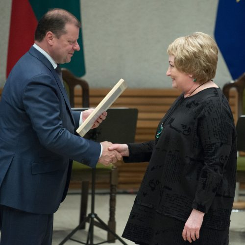 Vyriausybėje įteiktos kultūros ir meno premijos  © V. Skaraičio/ BFL nuotr.