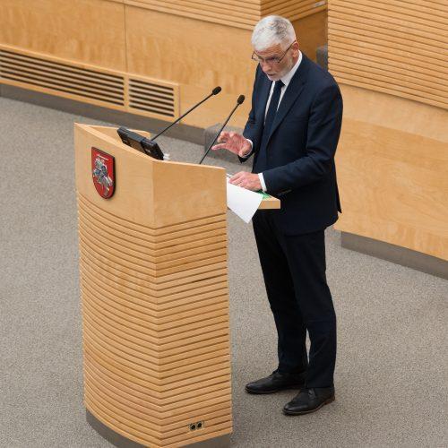 B. Markauskas atsakė į Seimo narių klausimus
