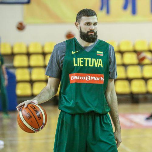 Lietuvos vyrų krepšinio rintinės treniruotė  © Vytauto Petriko nuotr.