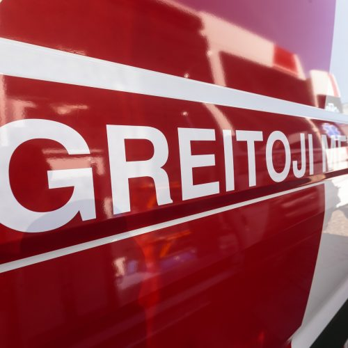 Savivaldybėms perduoti modernūs greitosios pagalbos automobiliai  © G. Bartuškos / ELTOS, organizatorių nuotr.