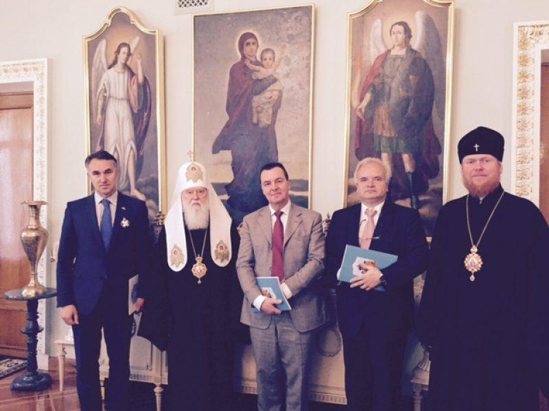 P. Auštrevičiui įteiktas Vladimiro Didžiojo antrojo laipsnio ordinas