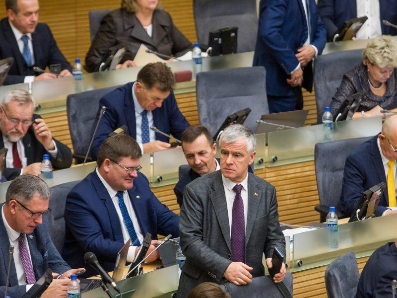 Parlamentarai pratęsė rudens sesiją iki sausio 12-osios