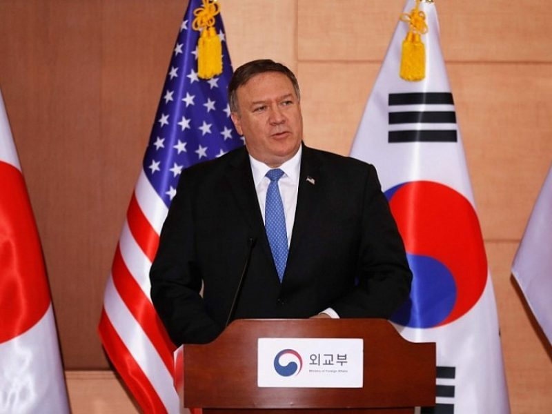 JAV valstybės sekretorius: sankcijos Šiaurės Korėjai nebus švelninamos