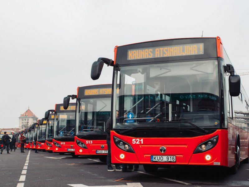 Nauji autobusai Kauno gatvėse