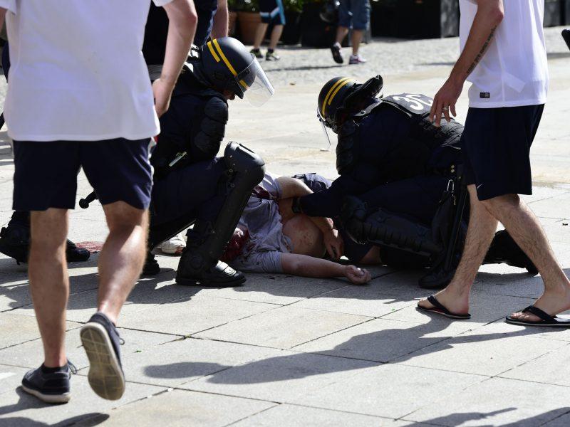 Sulaikytas Rusijos pilietis dėl chuliganizmo 2016 m. futbolo čempionate