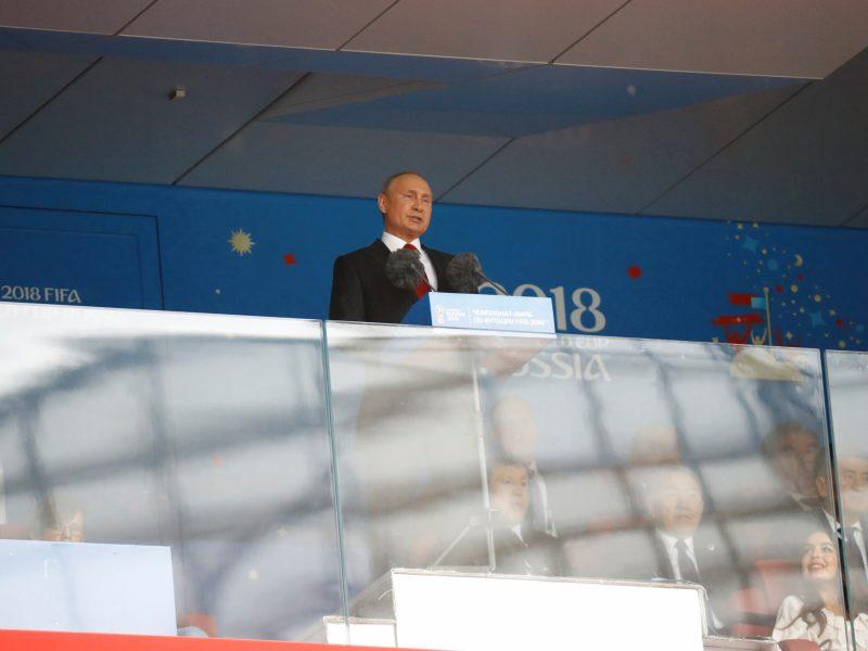 V. Putinas atidarė Pasaulio futbolo čempionatą