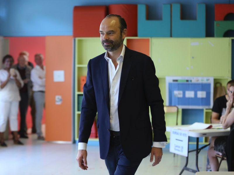 Prancūzijos prezidentas E. Macronas po rinkimų premjero poste palieka E. Phillipe'ą