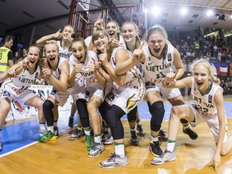 Lietuvos šešiolikmetės krepšininkės žengė į Europos čempionato ketvirtfinalį