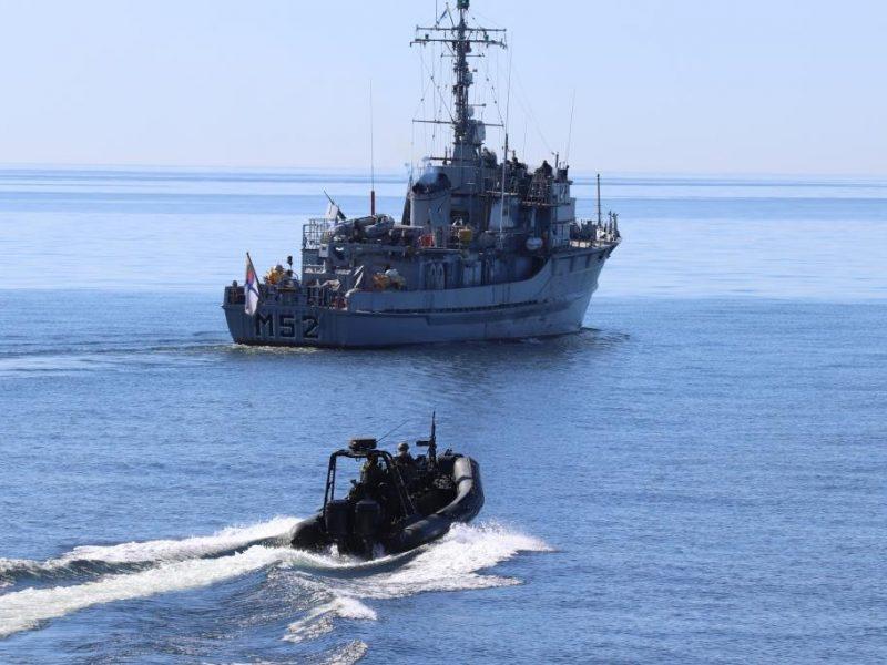 Lietuvos karo laivai ieško nesprogusios amunicijos Baltijos jūroje