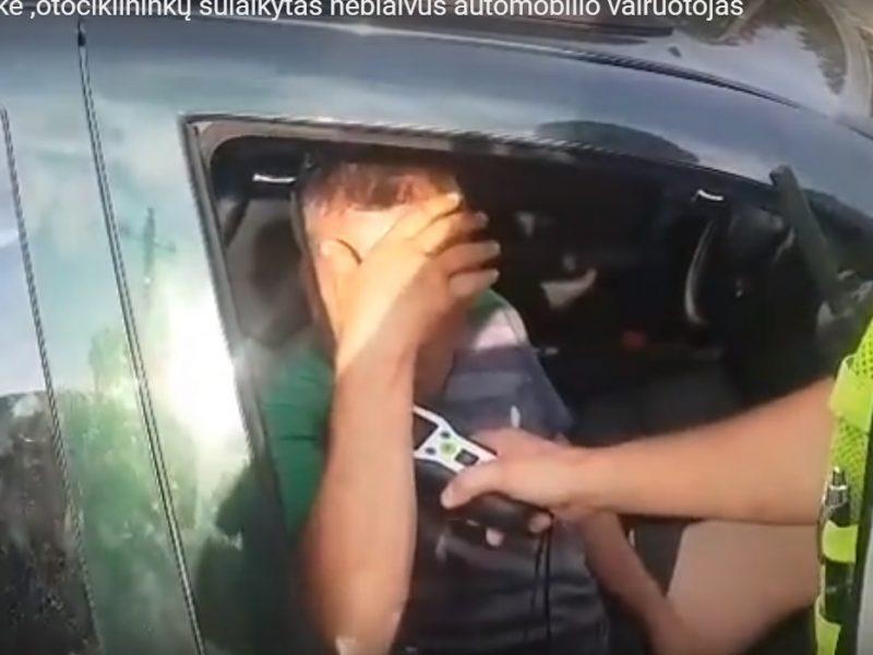 Uostamiesčio motociklininkai džiaugiasi – sulaikė girtą vairuotoją