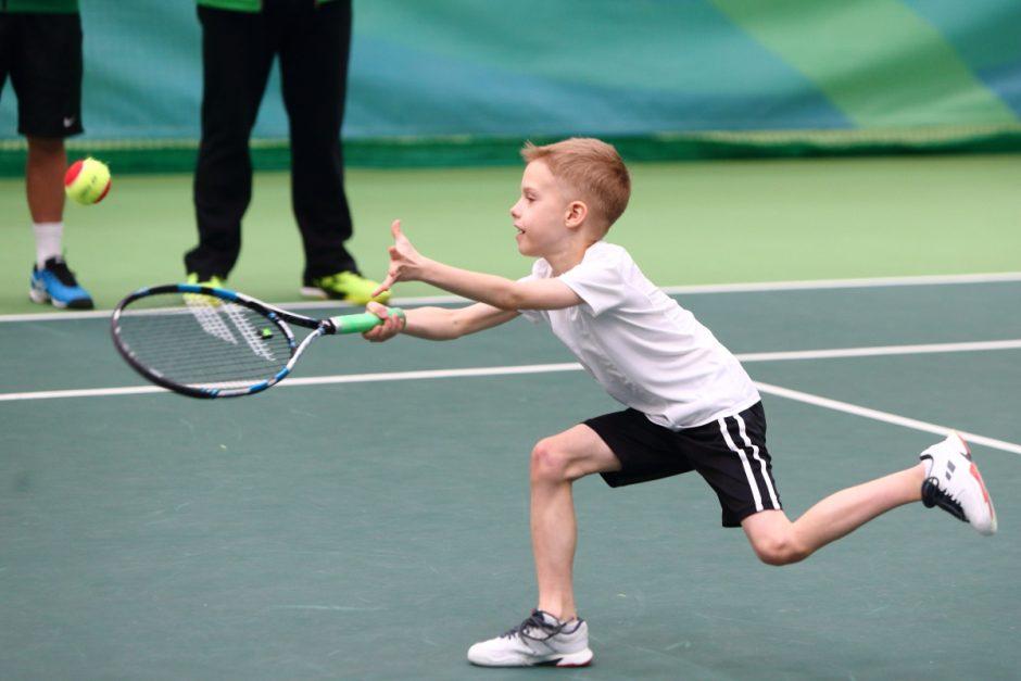 R. Berankio siurprizas jauniesiems tenisininkams