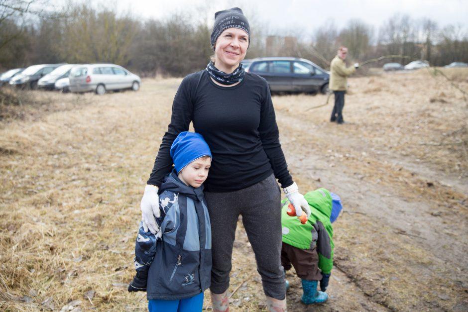 Talka Kauno VI forte: darbavosi ir vaikai