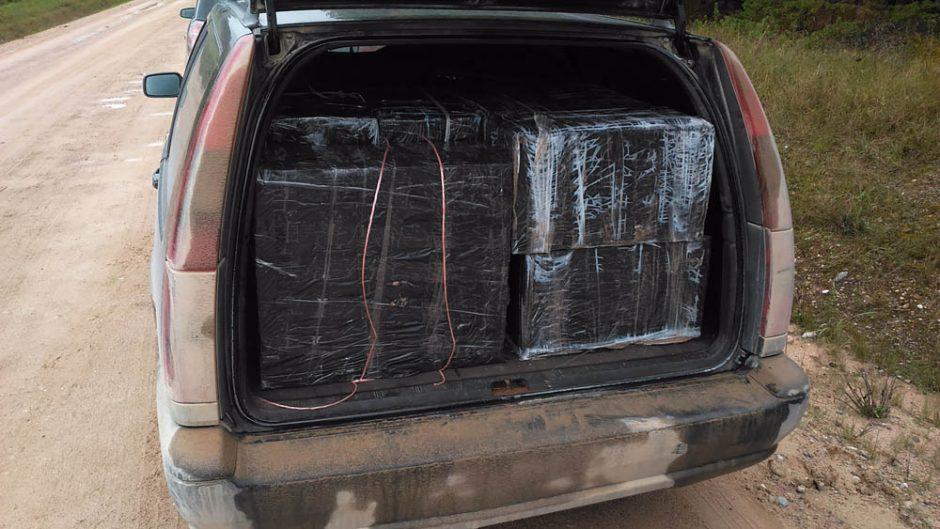 Pasieniečiai su įkalčiais sulaikė du kontrabandos gabentojus