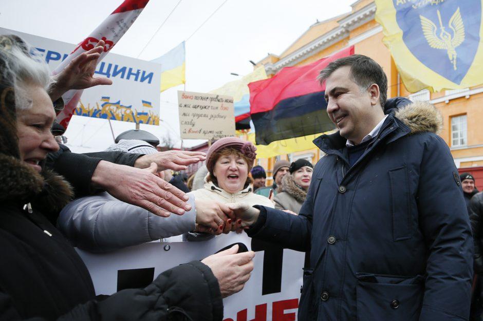 Ukrainoje tūkstančiai demonstrantų išėjo į gatves