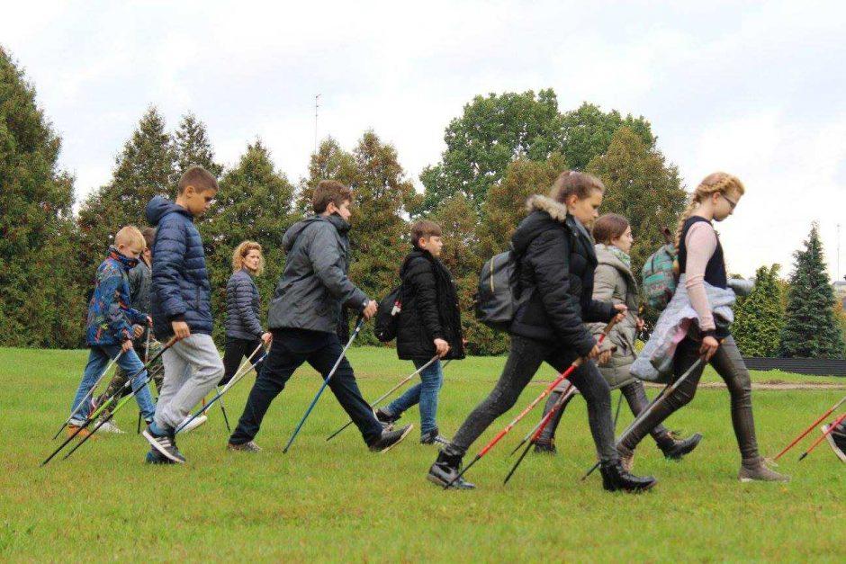 Laisvalaikis Kačerginėje: šiaurietiškas ėjimas, futbolas