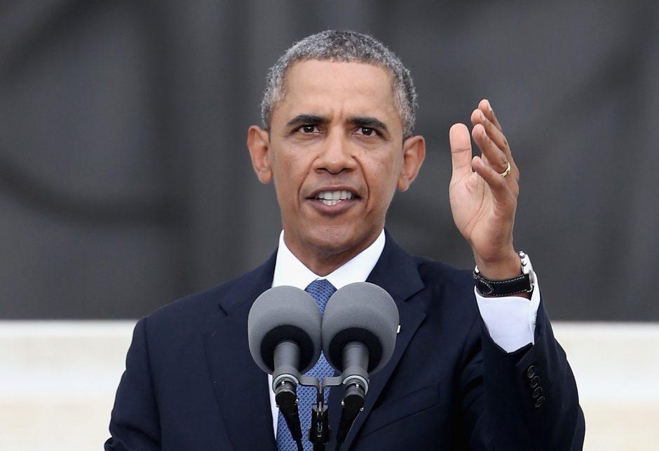 B.Obama šlovino M.L.Kingą, bet sakė, kad