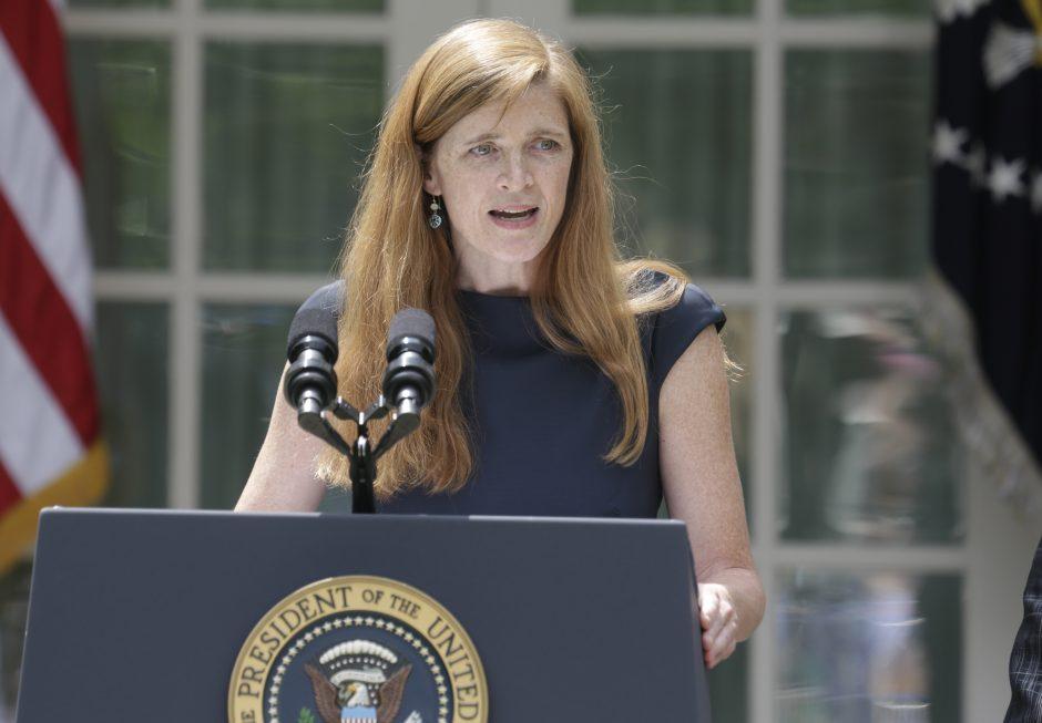 JAV patvirtino naująją ambasadorę prie Jungtinių Tautų