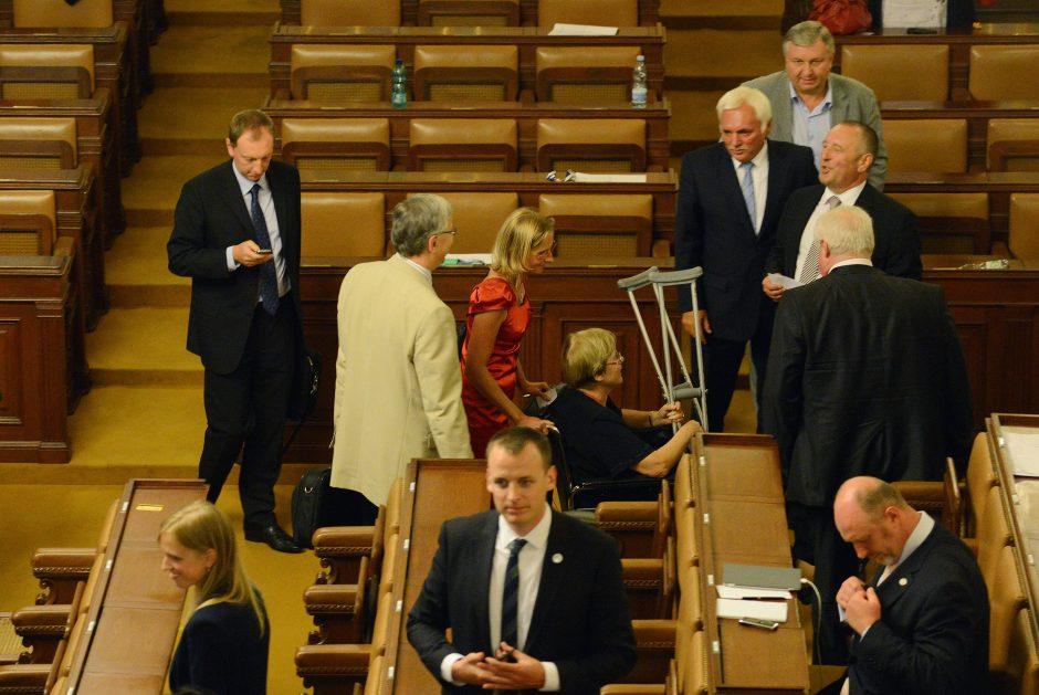 Nauji rinkimai: Čekijos parlamentarai pritarė parlamento paleidimui