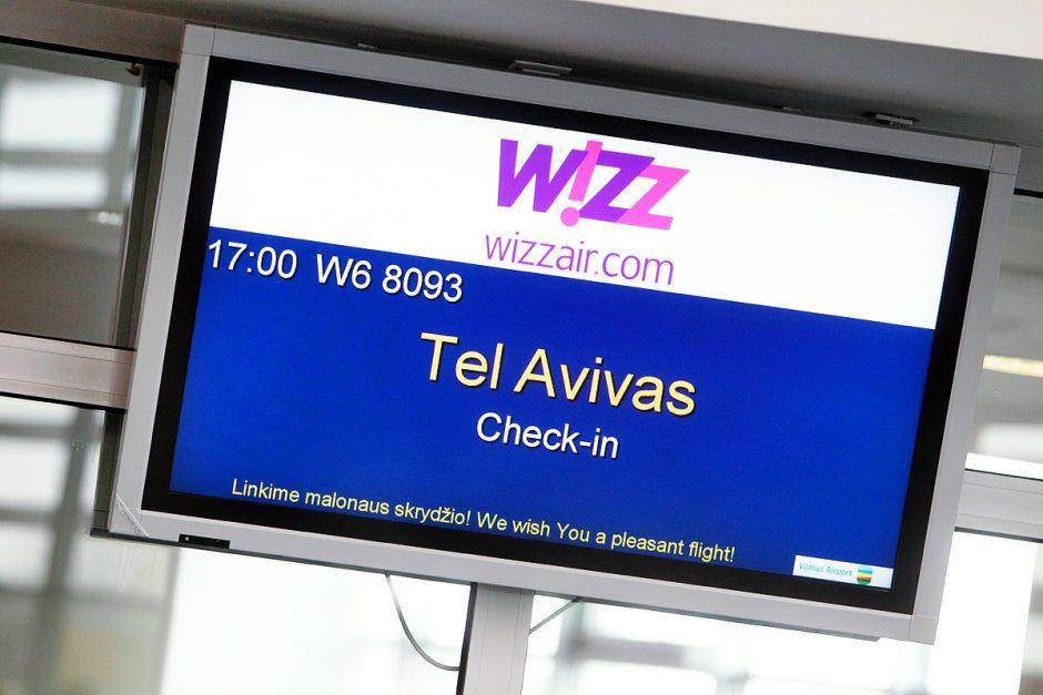 """Iš sostinės pakilo pirmasis """"Wizz Air"""" maršruto Vilnius – Tel Avivas orlaivis"""