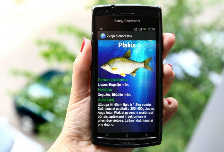Išmanusis telefonas praverčia ir žvejyboje