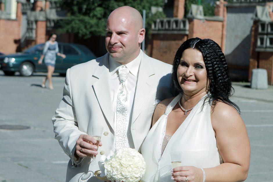 Klaipėdoje trečią kartą ištekėjo legendinė N. Murnikovienė