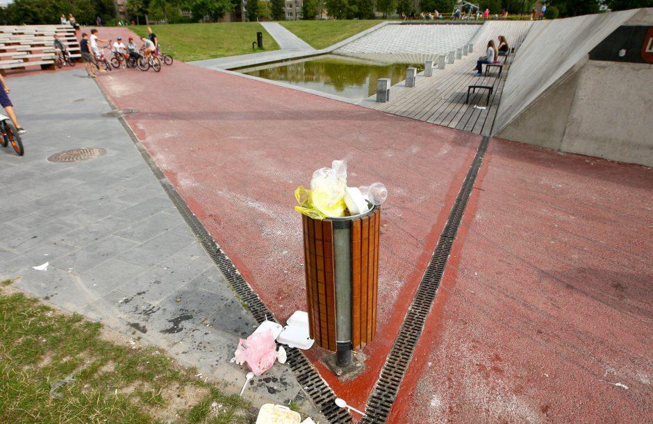 Čečėnijos aikštės fontanas pavirto pelke