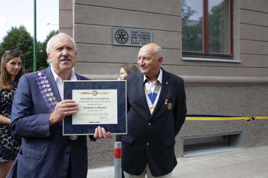 Rotary ištakas Klaipėdoje ženklins paminklinė lenta